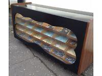 Large Vintage Haberdashery Unit / Counter, 24 drawers + money drawer, customized,