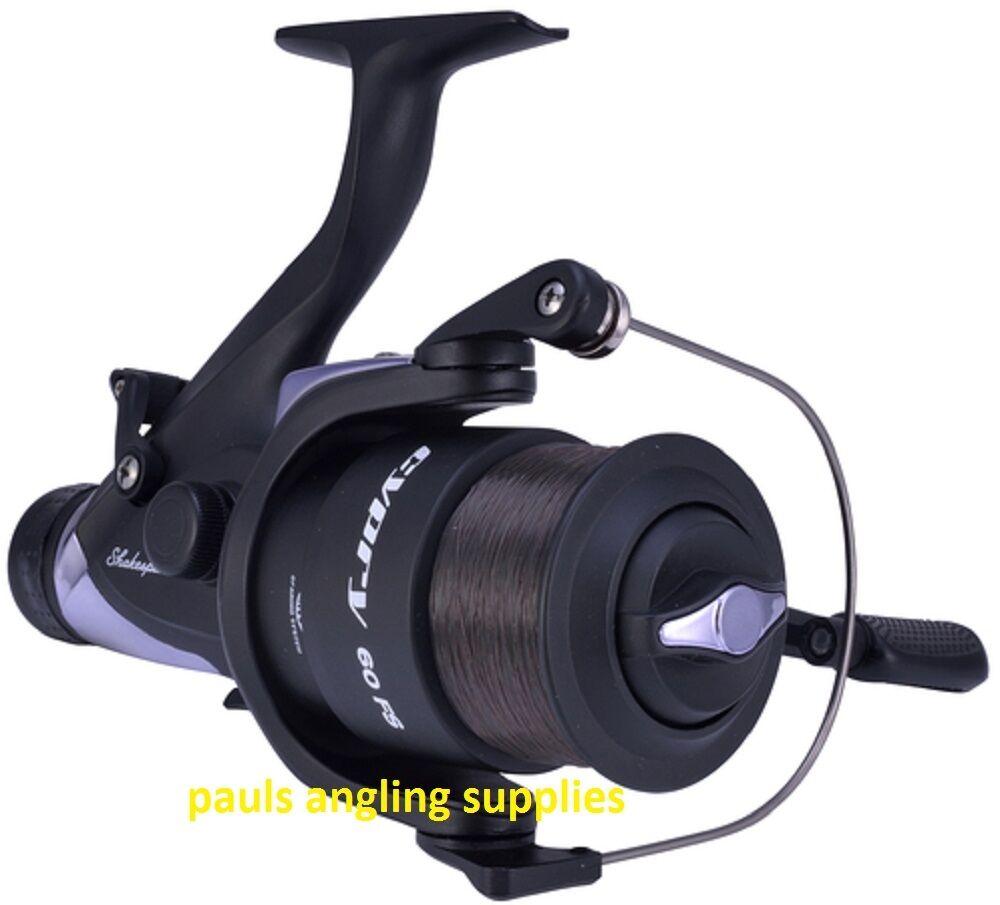 2 x Shakespeare Cypry 60FS Freerunner Carp Fishing Reel Bait,Running Switch