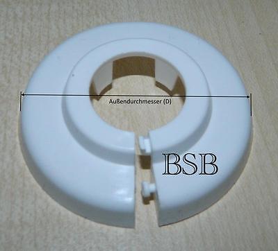 10 Abdeck Rosetten für 15 mm Heizungsrohr Abdeckung Einzelrosetten Kunststoff