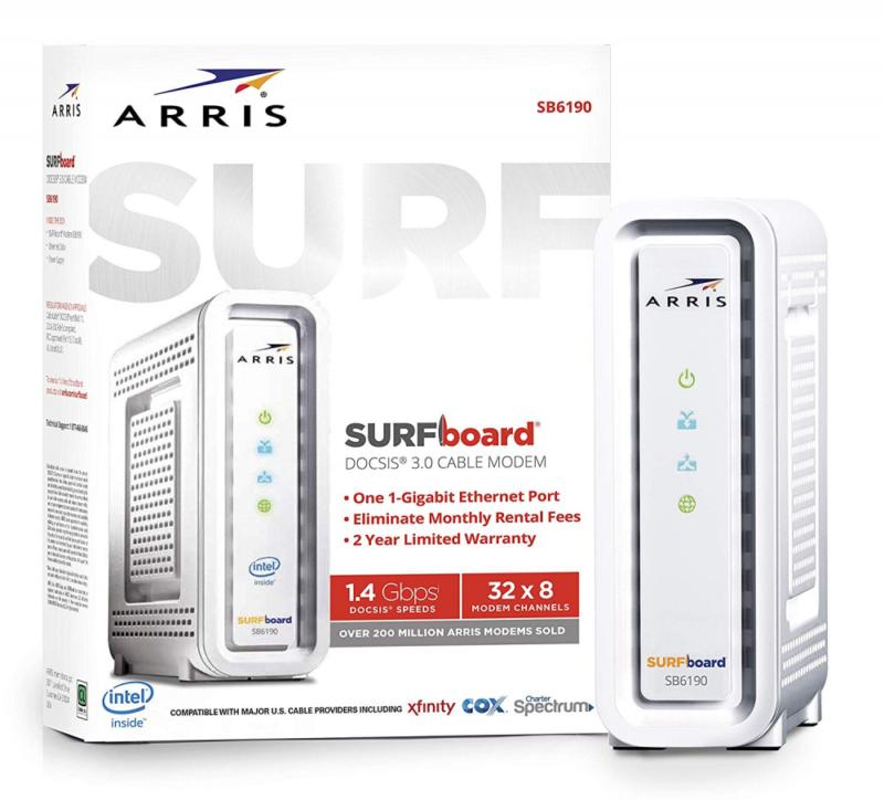 ARRIS SURFboard SB6190 32x8 DOCSIS 3.0 Cable Internet Modem