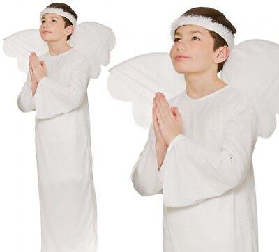 Jungen Mädchen Engel Weihnachten Schule Play Krippenspiel Kostüm Outfit Halo