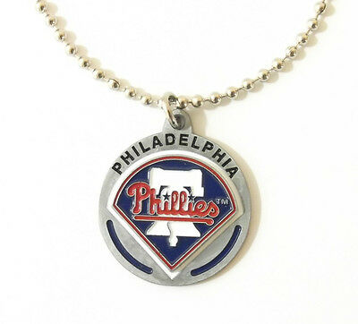 PHILADELPHIA PHILLIES LARGE PENDANT NECKLACE 21220A new baseball sports jewelry