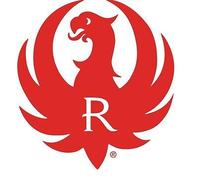 "Ruger Logo Sticker Decal- Red 4"" Round"