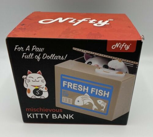 Cat Bank Mischievous Kitty Bank Electronic Animated Whimsical Bank New E1