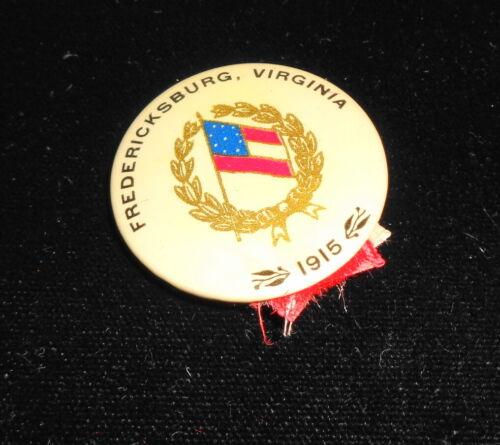 1915 Celluloid Pin/Ribbon for UCV/CSA Reunion Fredericksburg Virginia