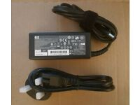 HP Laptop charger and power cable 65W Part No 608425-001