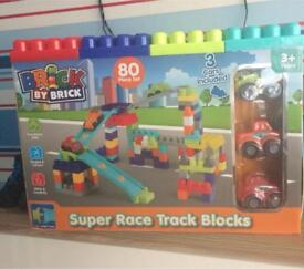 Brand new 80 piece super race track blocks