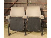 A Pair of Vintage Retro 1970's Cinema Seats & Provenance UK Delivery Available