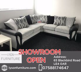 New Shannon Corner Sofa £599 - COME HAVE A LOOK AT OUR SHOWROOM IN LEICESTER