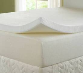 Memory foam mattress topper king size
