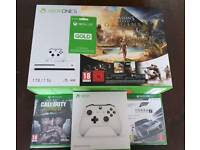XBOX ONE S 1TB 3 TOP GAMES , 12 XBOX LIVE + EXTRA WIRELESS CONTROLLER
