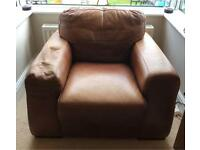 Tan leather Barker and Stonehouse armchair