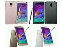 Brand New(Unlocked) Samsung Galaxy Note 4 32gb White And Black Colour Fully Boxed Up