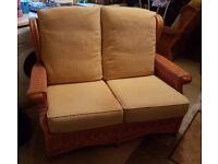 2 x Wicker sofas in excellent condition - ideal for conservatory / kitchen