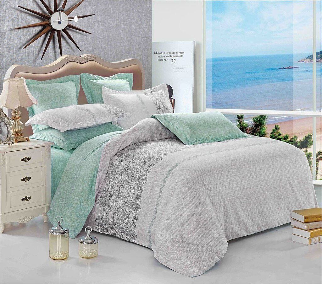 beach microfiber bedding set: duvet cover set or sheet set f