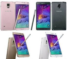 Brand New Unlocked Samsung Galaxy Note 4 32gb Black And White Colour Fully Boxed Up