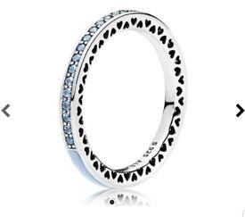 Hearts Of Pandora Ring ... Blue Size 56