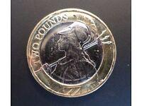 Rare £ 2 Two Pound Coin - Britania   Britannia 2016