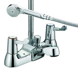 BRISTAN LEVER BATH/SHOWER MIXER TAP + BRISTAN LEVER BASIN TAPS
