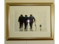 Alexander Millar 'One of the Boys' Signed Limited Edition Print, Spring 2004. Framed.