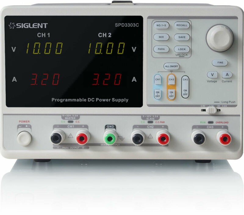 Siglent SPD3303C - Programmable Linear DC Power Supply (3 Channels, 220W)
