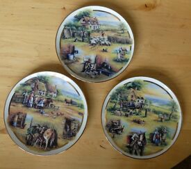4 Commemorate Wall Plates with Certificates ideal present Davenport China