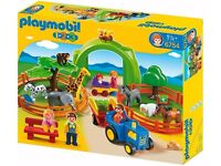 PLAYMOBIL ZOO & FARM SET USED BUT BOXED £20 ovno