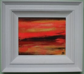 Irish Art Original Framed Abstract Painting by known BELFAST artist JOHN STEWART