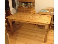 Antique pine dining table seats 6-8