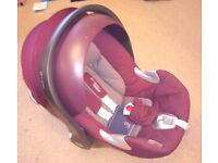 Mamas & Papas Cybex Aton Car Seat & Isofix Base in Mulberry