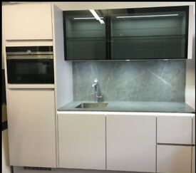 Ex-display kitchen- ONLY £4500- immediately collection NEW dishwasher, combi microwave + fridge