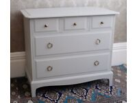 Stag Minstrel 5 drawer chest, refurbished, painted.