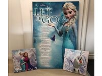EXCELLENT CONDITION Set of 3 Frozen wall art pictures on canvas £5
