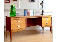 Stylish Vintage 'Uniflex' Danish style teak desk / dresser. Delivery. Modern / midcentury style