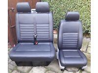 VW T5 Transporter full leather black seats