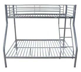 One - SILVER TRIPLE BUNK - BED FRAMES