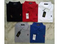 Ralph Lauren Half Sleeve Polos Tshirts for Wholesale & Retail. Singles : £20/per piece.