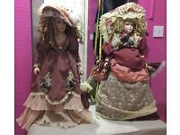 31inch high Leonardo porcelain dolls with box