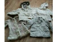Girls coats age 3-4 years
