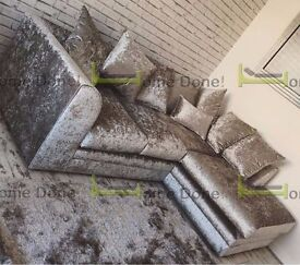 **UP TO 5 YEAR WARRANTY!!** Arabian Crushed Velvet Corner Suite or 3 and 2 Set - QUICK DELIVERY!