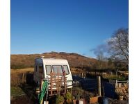2 Berth Caravan to rent in a Beautiful & Quiet area near Oban. Water and Electricity. Scotland