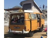 VW Volkswagen T2 Westfalia Camper van. Power steering. 5-berth. 1800cc. AdventureWagen