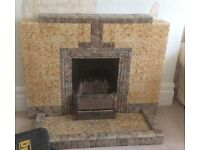 1930's Art Deco Marble Tile Effect Fireplace