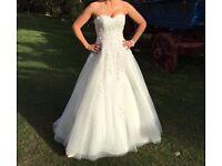 Stunning Designer Wedding Dress RRP 1195 GBP A-Line Size 8