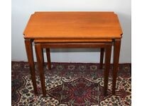 NEST OF TWO VINTAGE 1960s TEAK COFFEE TABLES £20