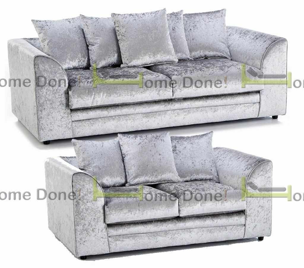 UP TO 5 YEAR WARRANTY!!** Arabian Exotic Crushed Velvet 3 and 2 Sofa ...