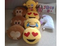9 large emoji cushions
