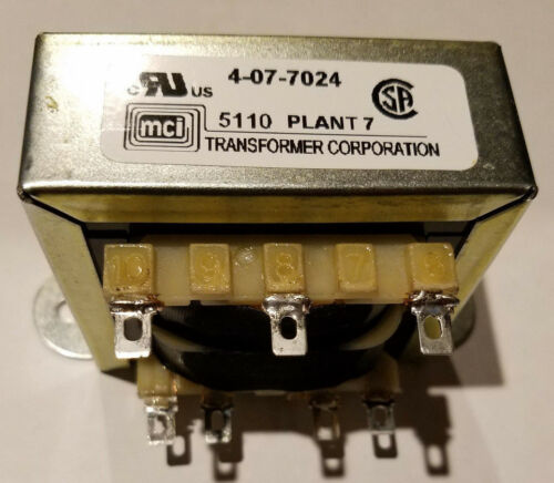 MCI Transformer 4-07-7024, Quick Connect power transformer, 115vac--24vct