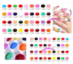 36-Pure-Colors-Shiny-Pots-Cover-UV-Gel-Nail-Art-Tips-Extension-Manicure-Decor