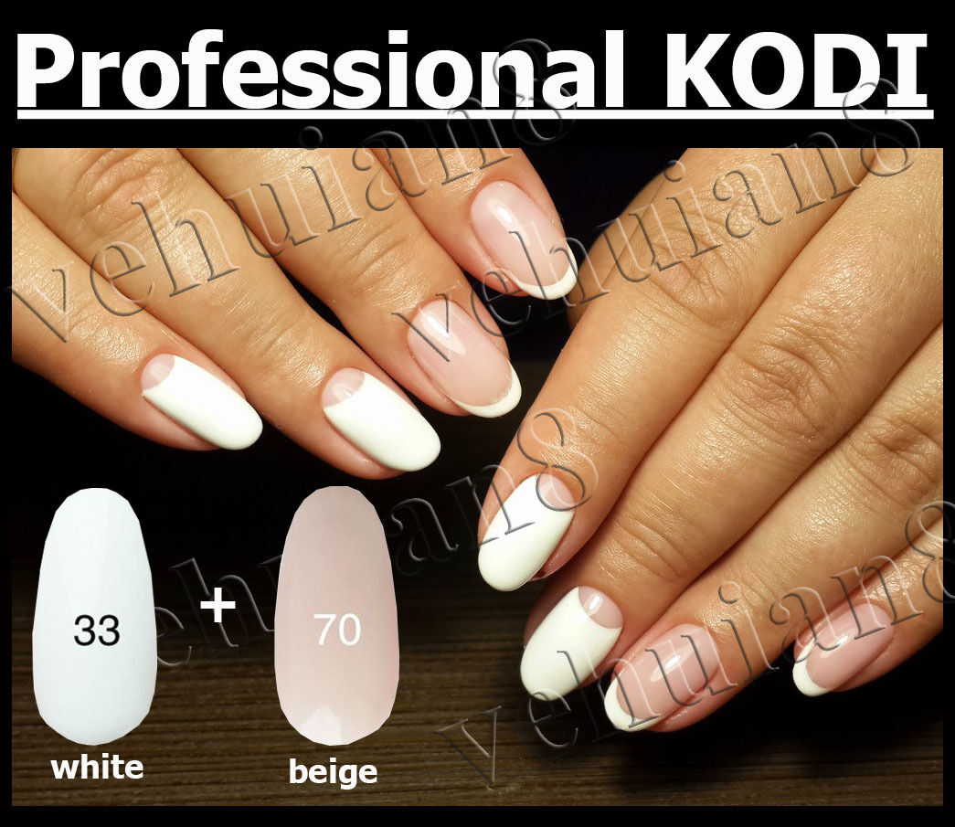 PROFESSIONAL Kodi Nail Gel Polish LED UV Gel Color White Beige ...